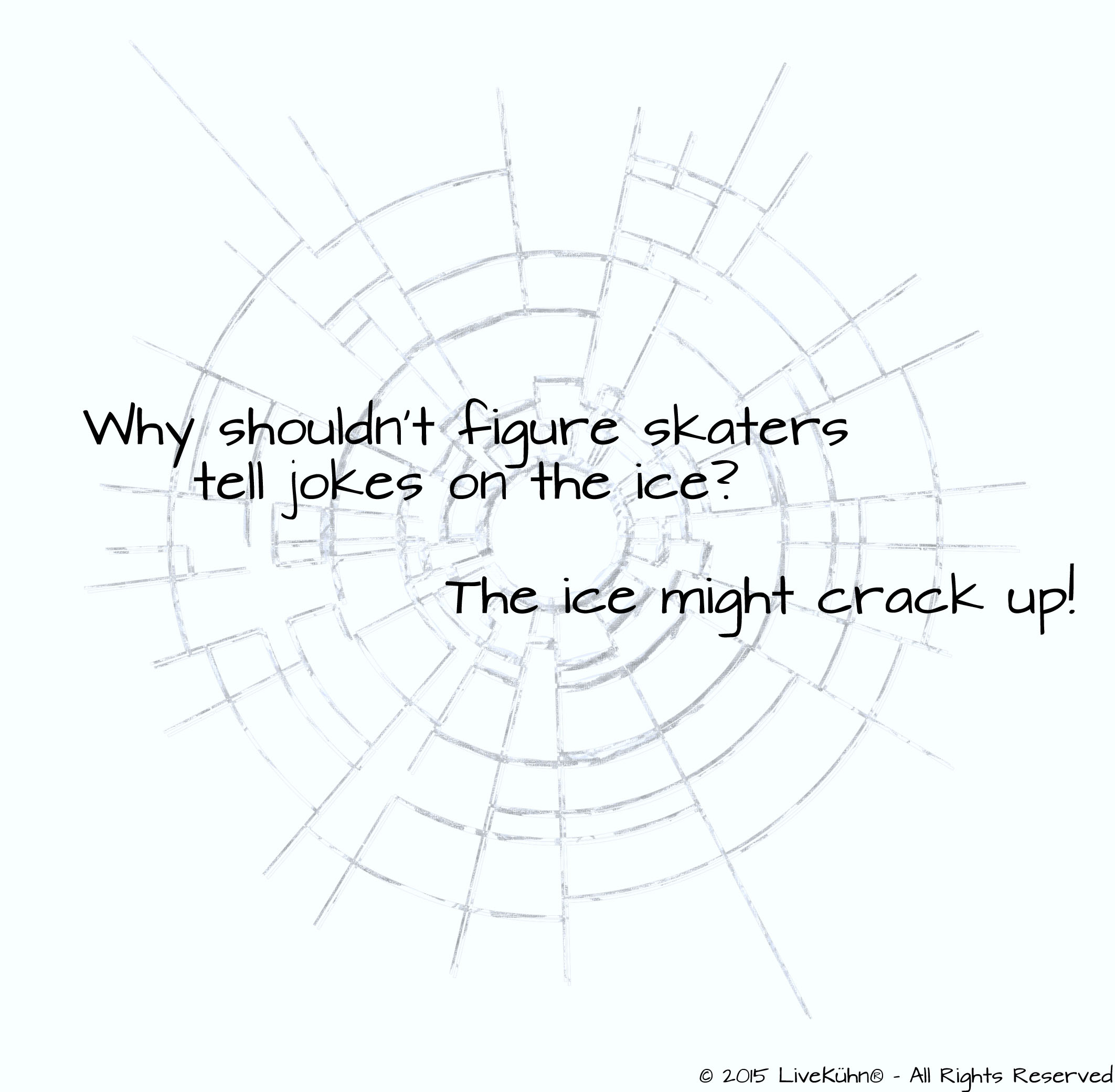 Why shouldn't figure skaters tell jokes on the ice?  The ice might crack up!